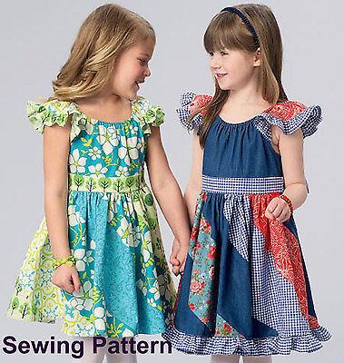 BN Ellie Mae Design LG Girls Dresses Kwik Sew K190 PATTERN XXS