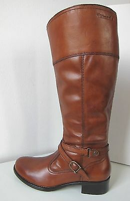 Tamaris Leder Reit Stiefel muskat cognac Gr. 38 leather boots light brown braun | eBay