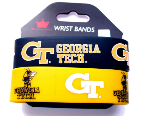 NCAA college rubber wrist fan band set 2 pack bracelet silicone pick your team