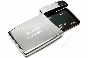 Personalised flip top stainless steel executive business card holder image is loading personalised flip top stainless steel executive business card reheart