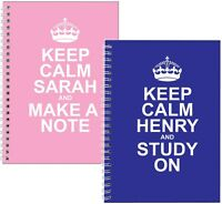 Keep Calm Pink Blue A5 Notebook Personalised Present Gift Birthday Idea