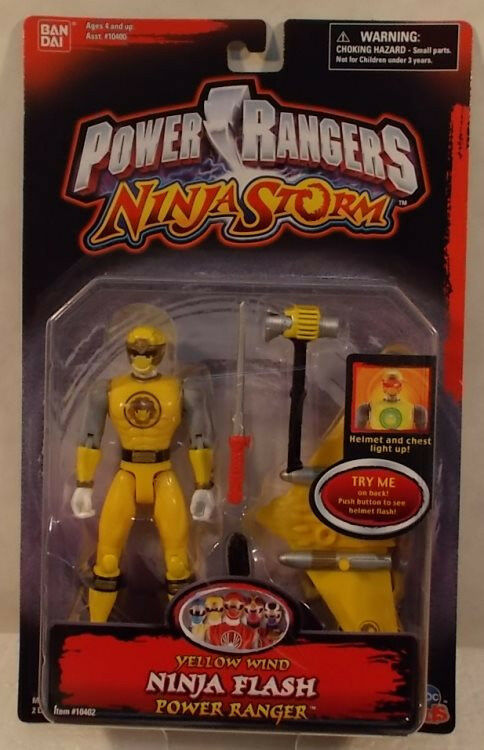 Power Rangers Ninja Ninja Ninja Storm Yellow Wind Ninja Flash Power Ranger Bandai (MOC) b9242e