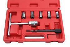 7 Piece Diesel Injector Seat Cutter Cleaner Reamer Tool Set Kit Bosch BMW Ford