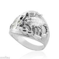 925 Sterling Silver Scorpion Scorpio Mens Cz Ring
