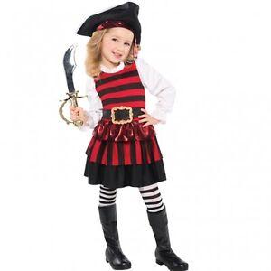 c525deec474ba Details zu Pirat Kostüm Gr. 98 104 110 Piratenhut Strümpfe Piratin Mädchen  Karneval Kinder