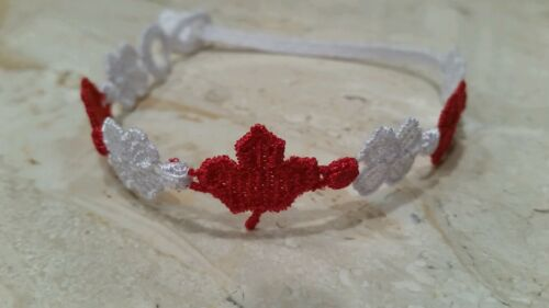 red and white Authentic New Cruciani Flag of Canada bracelet