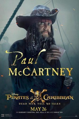 "Pirates of the Caribbean Paul Mccartney Movie Poster Print 13x20/"" 20x30/"" 24x36/"""
