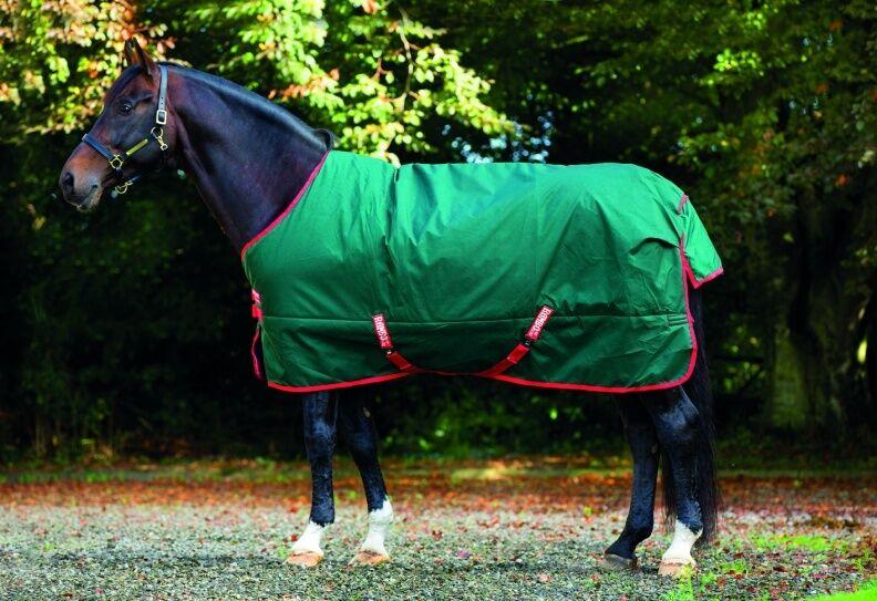 Horseware Rambo el original participación Alfombra de peso pesado 400g verde Rojo 5' 6  -7' 3