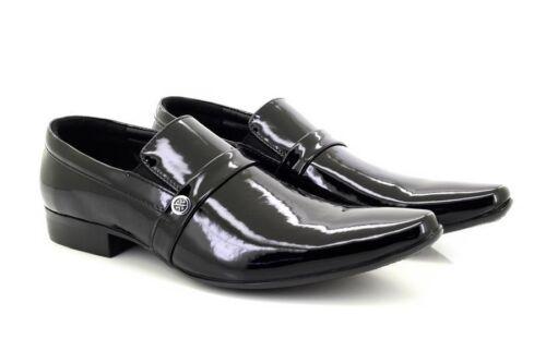 Créateur Cuir 7 8 En Habillées Verni Don Chaussures Doublure 6 De Noir 2 Hommes 7T8URac