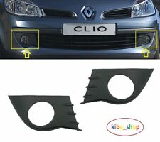 RENAULT CLIO III mk3 2005-2009 FRONT BUMPER FOG GRILLE GRILL PAIR LEFT RIGHT