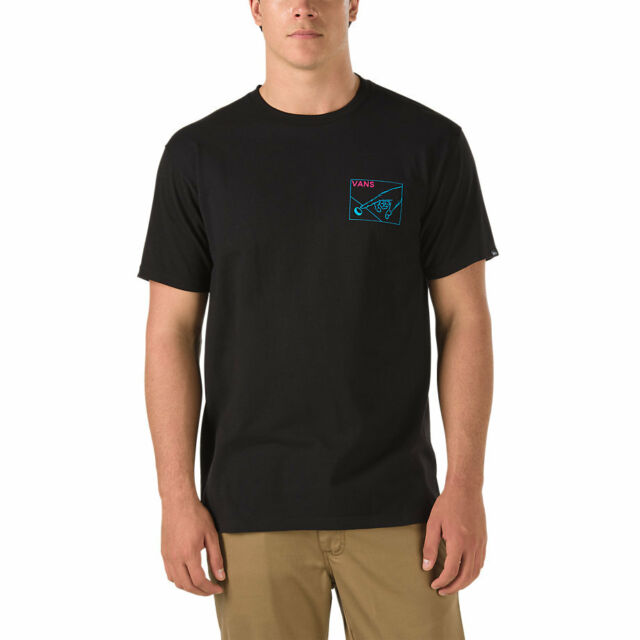 cfaff638d9 VANS off The Wall (button Pusher) Tee T Shirt Black Sz Mens Small SM ...