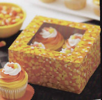 Candy Corn Halloween Cupcake Boxes 4 Ct From Wilton 3173-