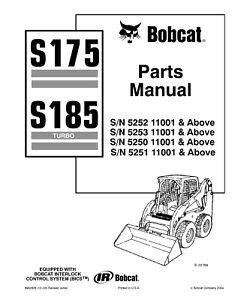 bobcat parts manual s175 skid steer loader 6902826 12 03 revised rh ebay ie bobcat s175 parts catalog Bobcat 743 Service Manual