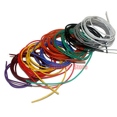 6 7 8 10AWG Flexible Silicone Wire Color Selectable 5M Lot