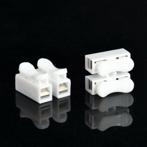 30Pcs CH-2 Self Locking Electrical Cable Connectors Splice Lock Wire Terminals