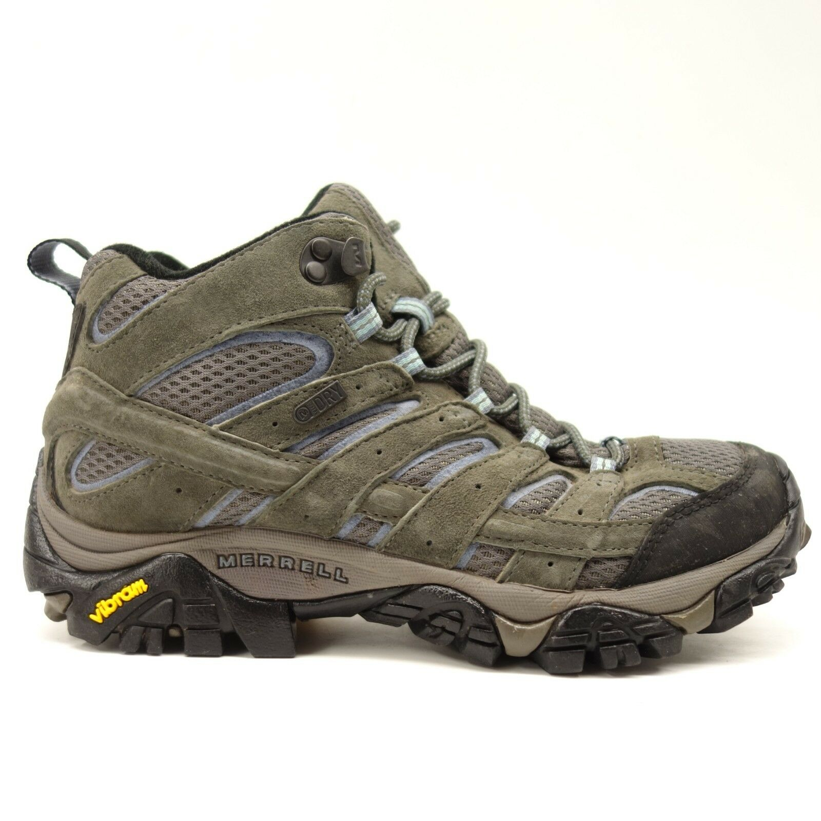 Merrell Womens Moab 2 Granite bluee Mid Hiking Waterproof Athletic Boots Size 7