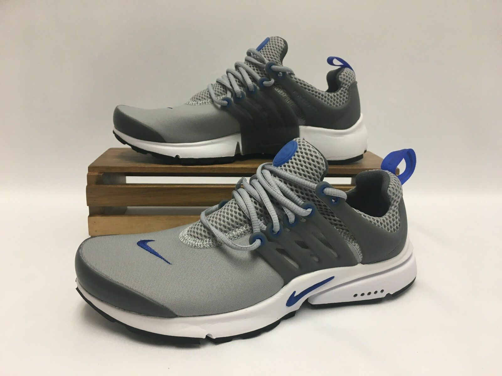 Nike Air Presto Essential Running Shoes Gray Blue White 848187-012 Men's NEW