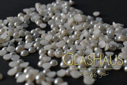 3,4,5,6,7 und 8mm *weiss*//*perlmutt* Hotfix Perlen Super Qualität