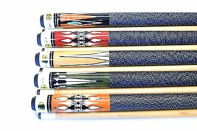 LOT OF 5 POOL CUES New 58/'/' Billiards Cue Stick #C Pool Cue Stick PLUS SHIPPING