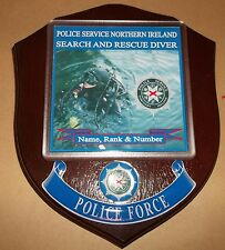 Northern Ireland Police Search & Rescue Diver Wall Plaque personalised free.