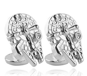 Star-Wars-Silver-Millennium-Falcon-Cufflinks
