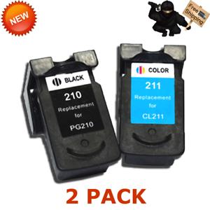 2 PK Ink For CANON PG 210XL CL 211XL PIXMA MP230 IP2702 MP480 MP270 MP280 MX420