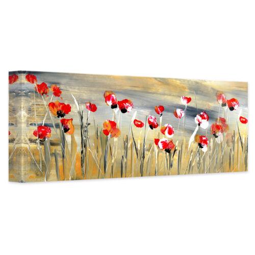 Blumenwiese Leinwand Leinwandbild Niksic Panorama bunt