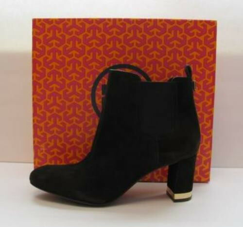 Tory Burch April Brown Suede boot bootie shoe New 11 Coconut