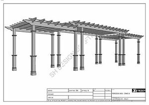 GRAPE VINE PERGOLA - OUTDOOR PATIO COVER - V2 Full Building Plans