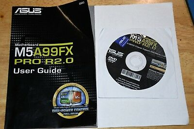 Genuine asus M5A99FX PRO R2.0 MOTHERBOARD DRIVERS CD AND Manual