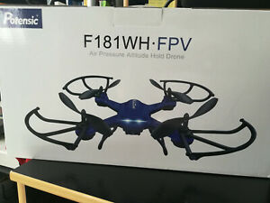 Drone Potensic F181 Wh-fpv Bleu, Caméra Wifi Pour Smartphone