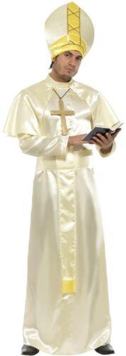 Da Uomo Religioso Santo Padre Papa Vicario Cattolica Cervo Costume Vestito M