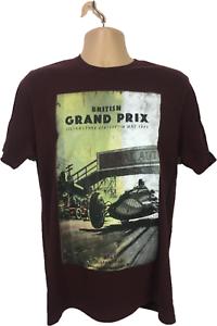 Mens-T-Shirt-Size-M-Red-Burgundy-Silverstone-Heritage-British-Grand-Prix-Top