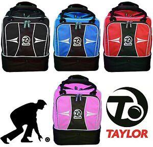 Thomas-Taylor-Mini-Sport-Lawn-Bowls-Bag-Red-Blue-Pink-Black-Gym-Sports-Holdall