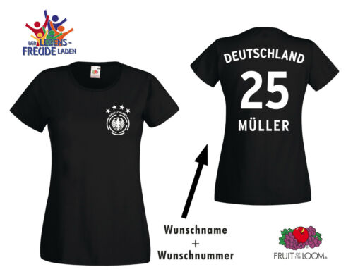 WM 2018 Deutschland Trikot T-Shirt 4 Sterne Wappen Wunschnummer Wunschname