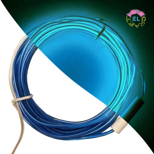 10 m avec connecteur-coudes en formes Stiff EL Wire £ 5p//m