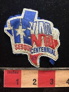 Souvenir-AS-IS-ROUGH-TEXAS-SESQUI-CENTENNIAL-Jacket-Patch-75X4