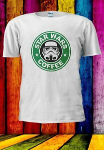 STARWARS-Stormtrooper-Caffe-Starbucks-parodia-Uomini-Donne-Unisex-T-shirt-988