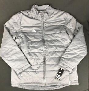ADIDAS-Men-039-s-Onix-Gray-CLIMASTORM-Spring-Fall-Transition-Jacket