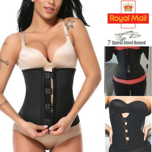 1eaa81f9722ba UK Women Waist Trainer Latex Belt Zipper Body Shaper Corset Slimming ...