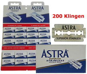 200-Lames-de-Rasoir-Pour-Astra-Superior-Acier-Inoxydable-Double-Bord-Gillette