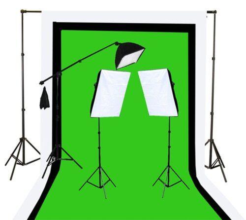 Fancierstudio U9004sb 10x12bwg Light Kit 2000 Watt Photo Video Lighting
