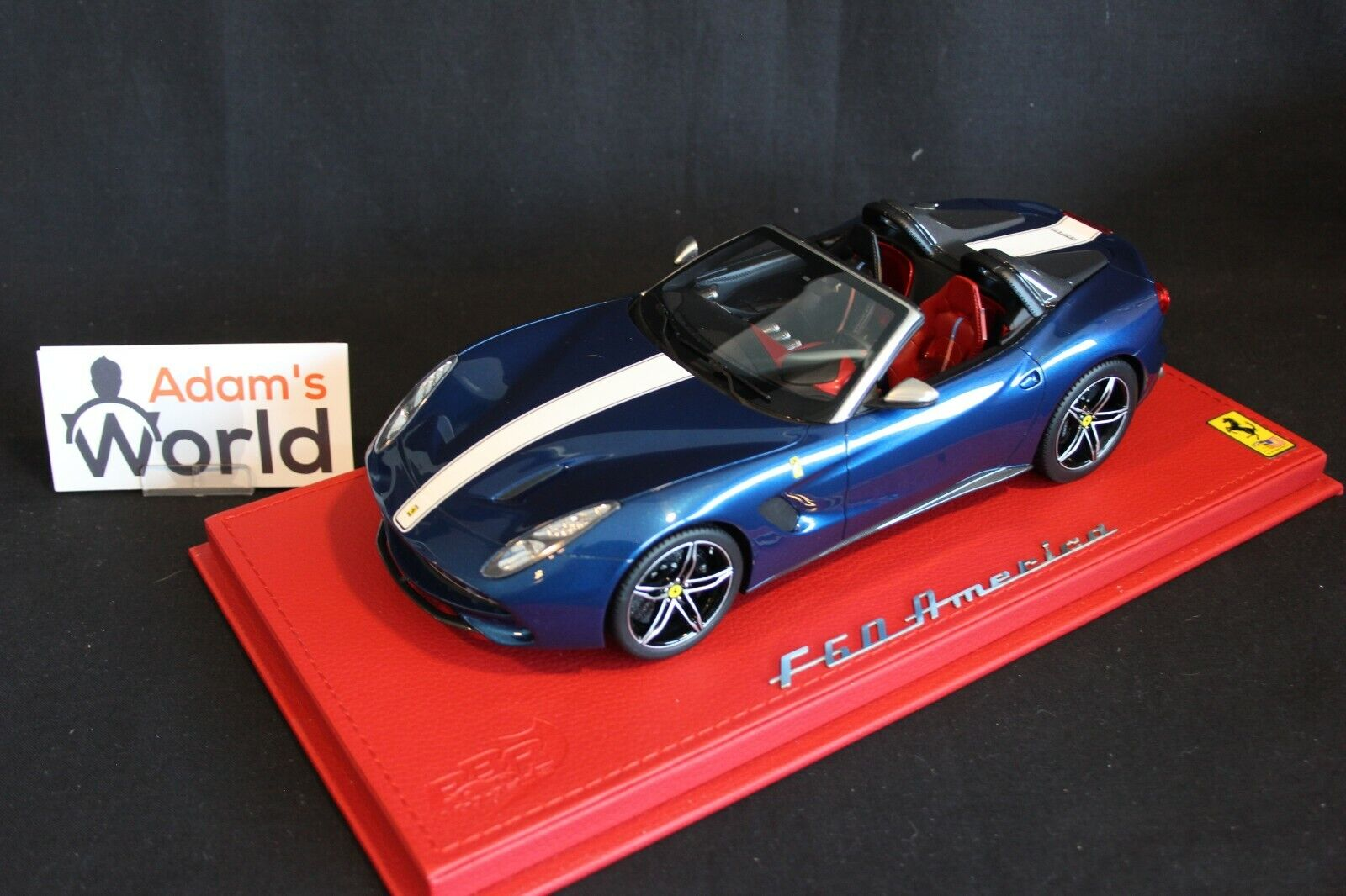 BBR Ferrari F60 America 2014 1 18 60th Anniversary in USA azul metallic (PJBB)