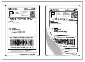 shipping postage labels 2 labels per page 8 5 x 5 5 usps. Black Bedroom Furniture Sets. Home Design Ideas