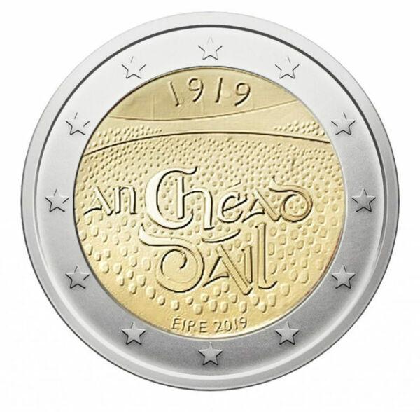 2 Euros Irlande 2019 100e Anniversaire De La Création Du Dáil Éireann Nouveau!!!