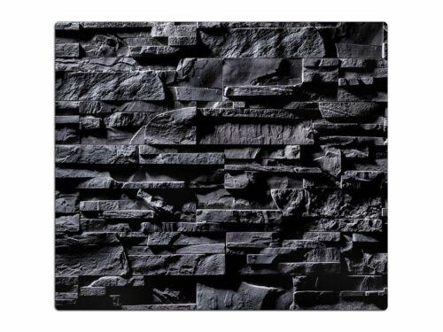 Herdabdeckplatte aus Glas Schneidebrett Spritzschutz HA51491628 Steinmauer Optik