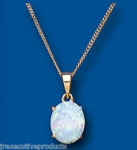 Yellow-Gold-Opal-Pendant-Oval-Solitaire-Hallmarked-18-034-Chain-British-Made