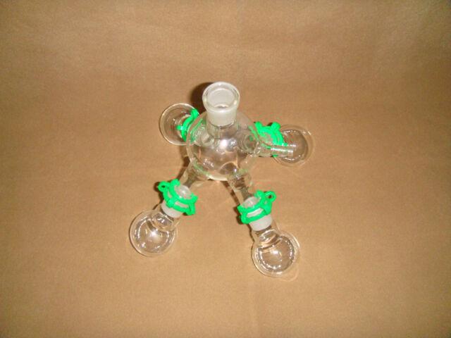 Lab Short-path Distillation Receiver with Four 50ML flasks,24/29,Side Arm