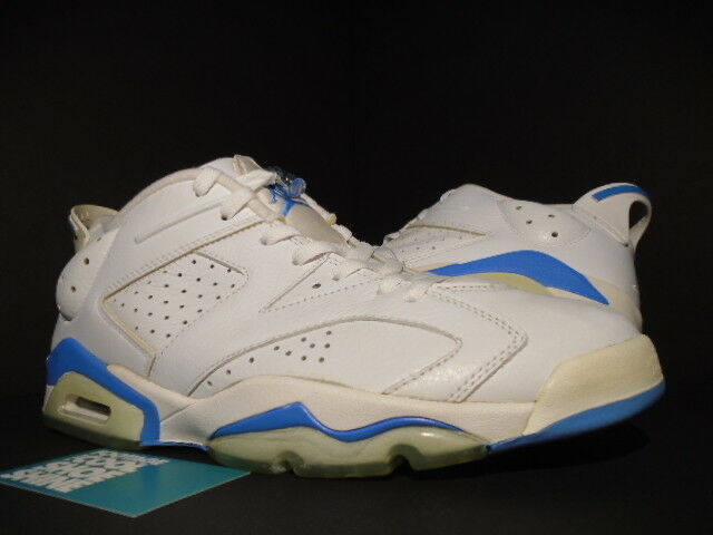 2018 NIKE JORDAN VI Universidad 6 RETRO bajo AIR Universidad VI Blanco Azul Negro 304401141 DS 11 2b50c0