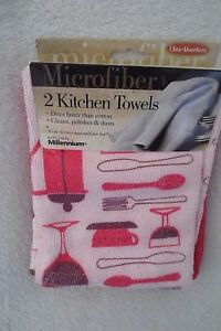 Kitchen-Microfiber-Towels-Sberry-Red-Towel-Set-2-16-in-x-24-in-New